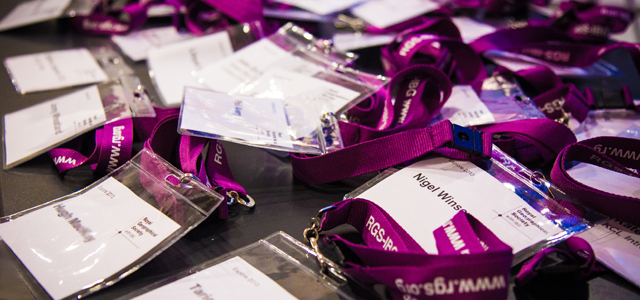 RGS Explore 2017 Name Badges
