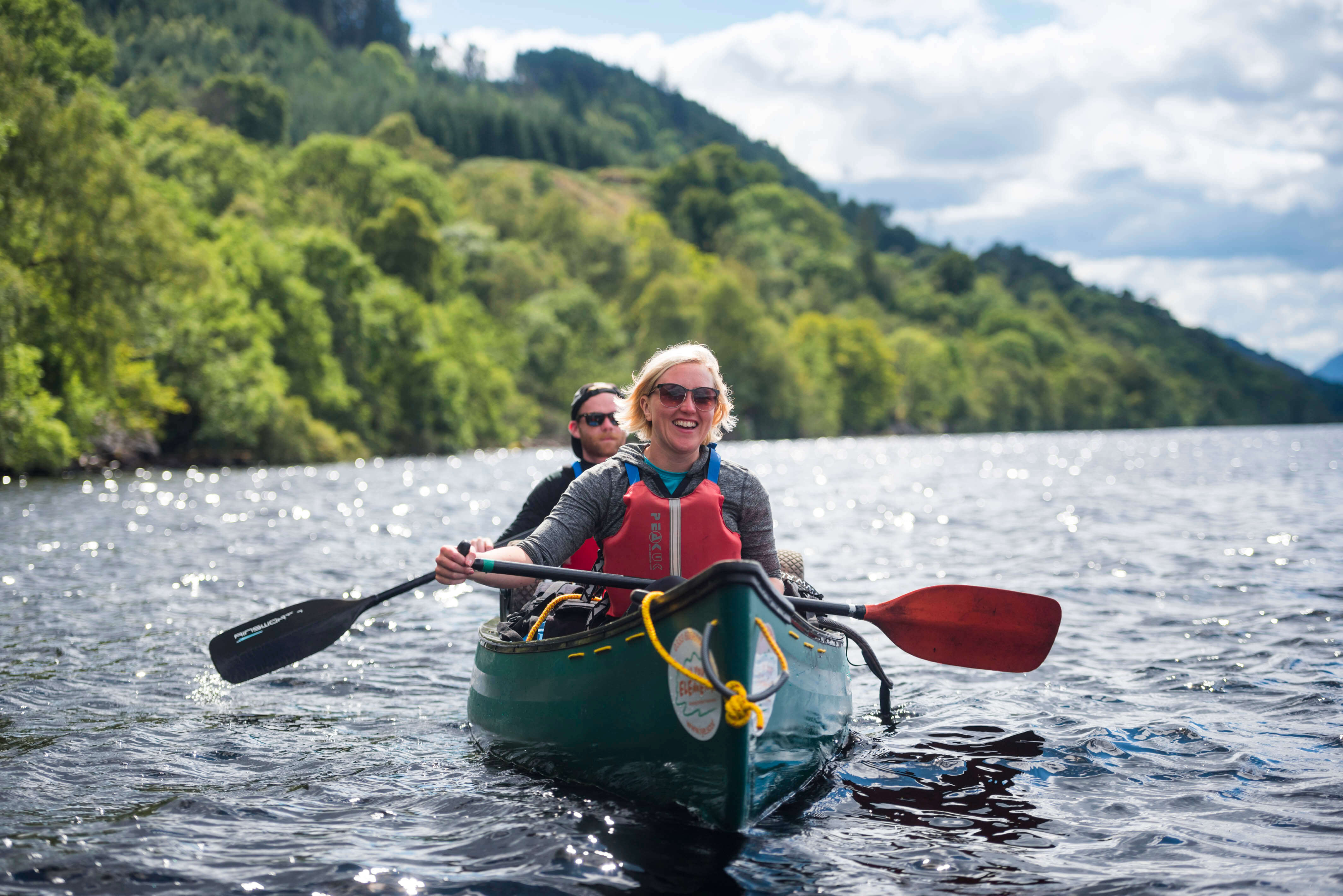 Caroline out canoeing in Scotland